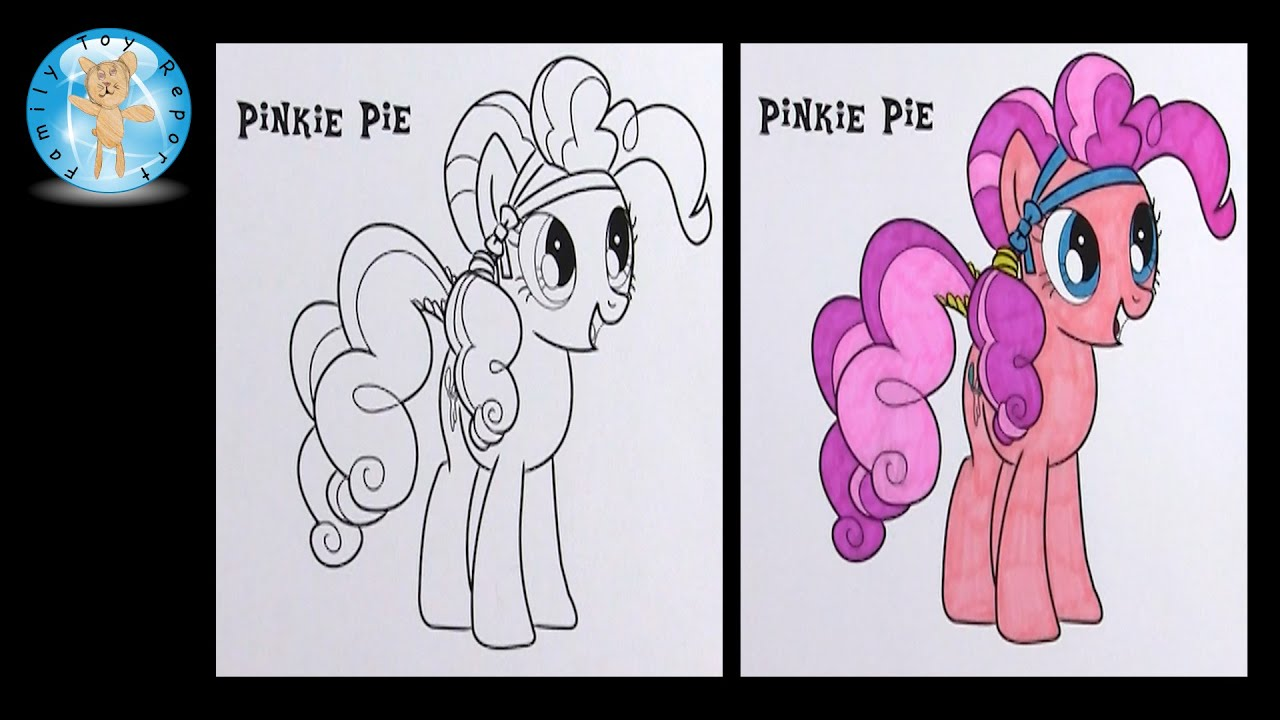 my little pony pinkie pie coloring page sharpie speed color time