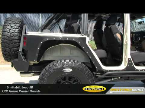 Jeep Wrangler Body Armor >> Smittybilt - XRC Armor Corner Guards for Jeep JK - Armor ...