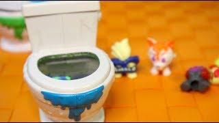 Общественный Туалет для Детей Flush Force - Туалетные Монстры