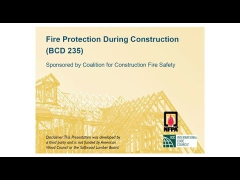 BCD235 - Fire Protection During Construction