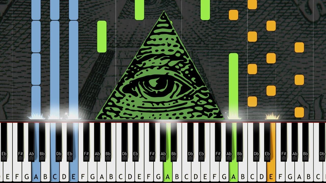 X-Files Theme (Illuminati Song) - Piano Cover w/ Sheet Music / MIDI  (Synthesia)