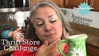 $5 Thrift Store Challenge | Summer Decor Edition 2018 | *How Ines Rolls*