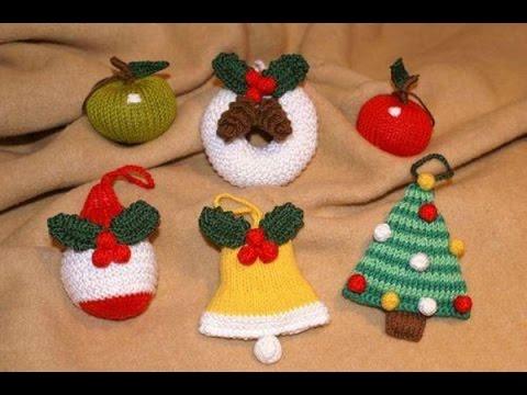 Adornos para arbol de navidad a crochet youtube for Adornos colgar pared