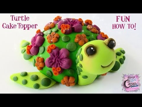 How To Make A Turtle Cake Topper: Wilton Mold Collaboration