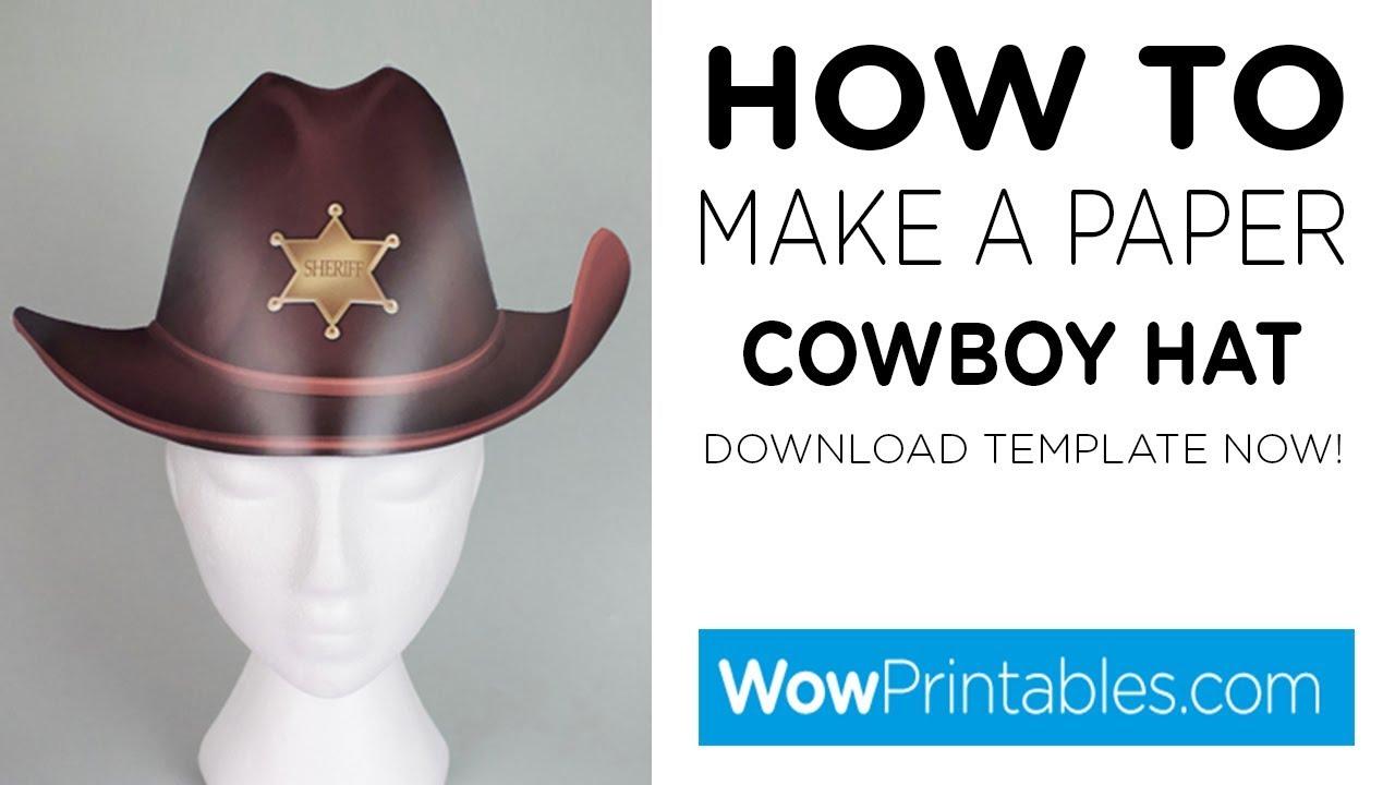 photograph regarding Cowboy Hat Printable named How Towards Deliver A Paper Cowboy Hat ( Printable Template )