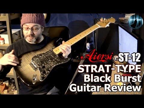 Aiersi ST-12 Strat-Type Black Burst Guitar Review