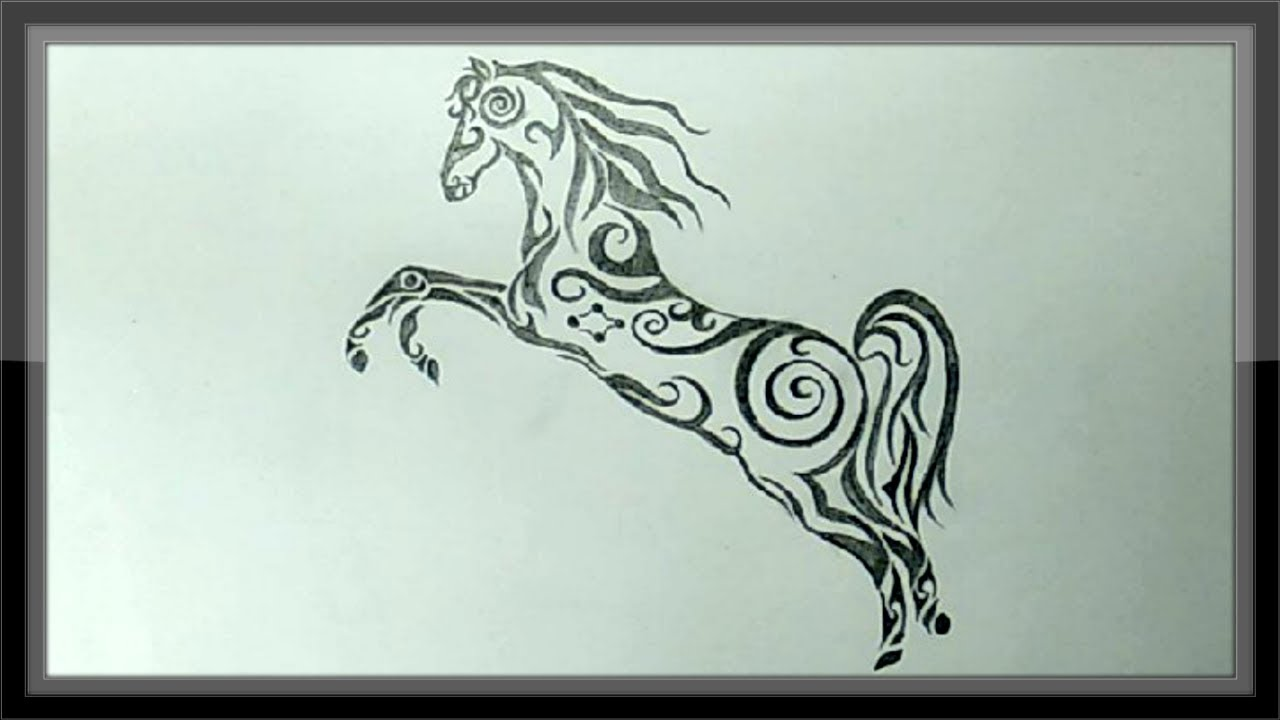 Easy pencil drawing of horse for beginners step by step