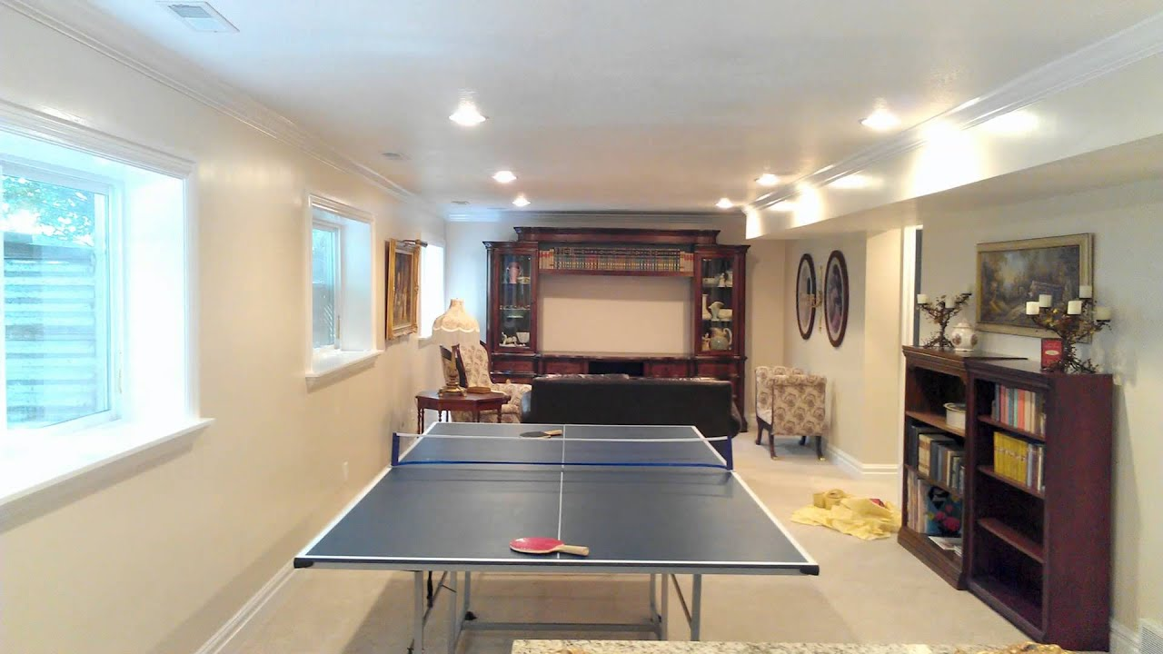 Hollady utah basement finish basement pro youtube for Finish basement utah