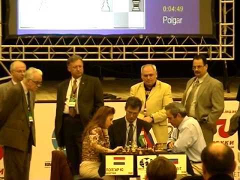 Judit Polgar defeating Kasparov - Russia vs Rest of the World