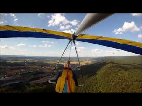 Will Perez Hang Gliding at Pleasant Gap on 6-23-2012