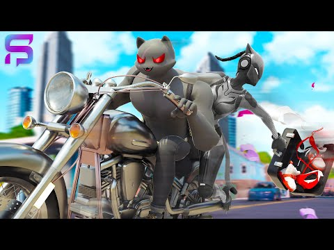 SHADOW MEOWSCLES And LYNX, ON THE RUN.... ( Fortnite Film )