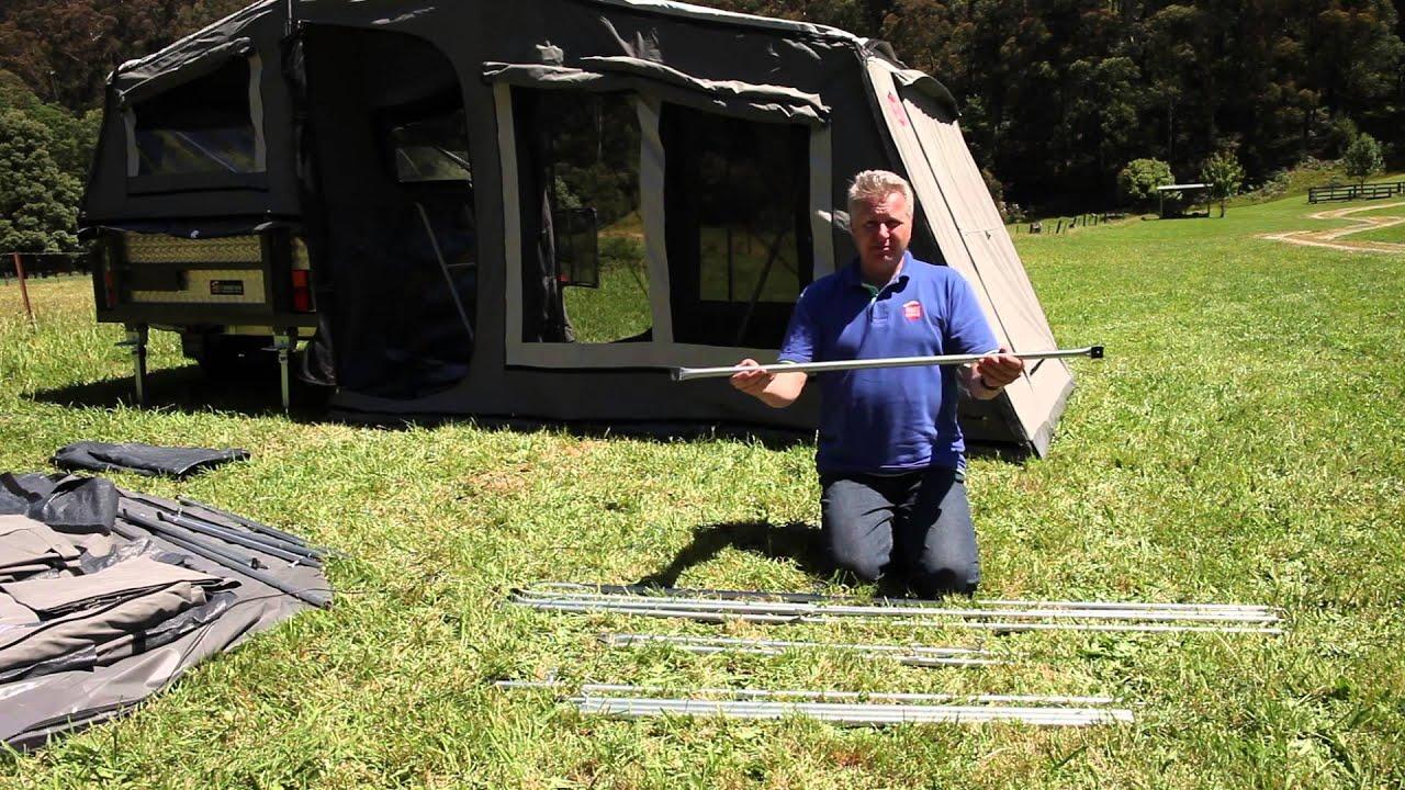 Soft Floor Camper Trailer Setup Instructions