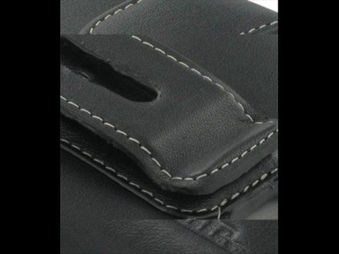 PDair Leather case for HTC P4350 - Horizontal Pouch (Black)