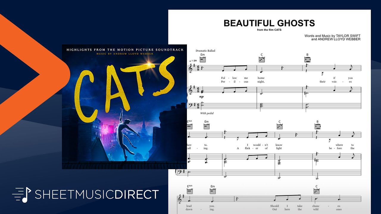 Beautiful Ghosts From Cats Official Sheet Music Taylor Swift Piano Vocal Guitar Youtube