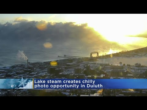 Amazing 'Lake Steam' Effect Caught On Lake Superior