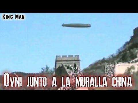 Grababan la muralla China y se topan con un OVNI