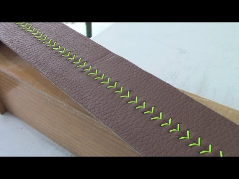 LEATHER STEERING-WHEEL - Baseball-Stitch Pattern - TUTORIAL