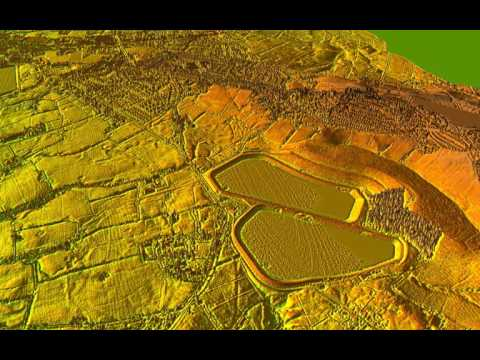 Lidar fly-over Ribchester to Inglewhite Roman Road