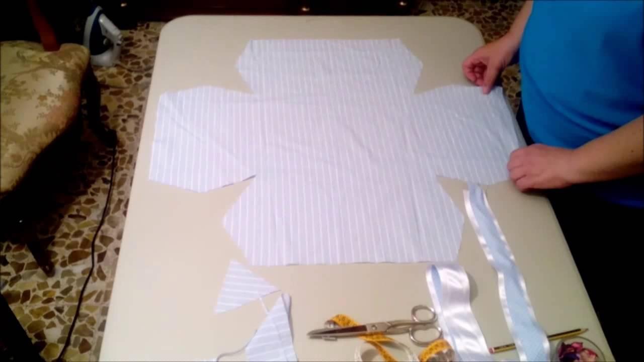 Canasta forrada de bebe rectangular youtube - Cosas para preparar una boda ...