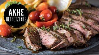 Μοσχαρίσιο Steak με λαχανικά | Kitchen Lab by Akis Petretzikis