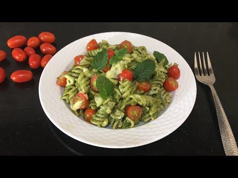 Fusilli Pasta with Mint Pesto | Mint Pesto Sauce