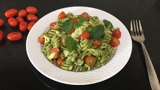 Fusilli Pasta with Mint Pesto | Mint Pesto Sauce