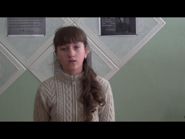 Изображение предпросмотра прочтения – АнастасияХолопова читает произведение «Бородино» М.Ю.Лермонтова