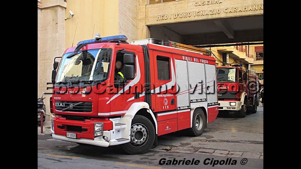 Hd Sirena Pompieri 7x Vigili Del Fuoco In Azione 4x