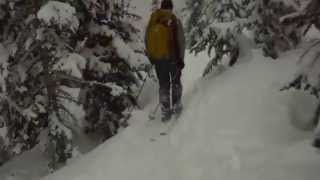 Backcountry skiing Colorado Feb. 2014