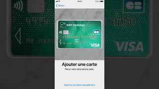 Comment ajouter sa carte Classic BNP Paribas sur Apple Pay ?
