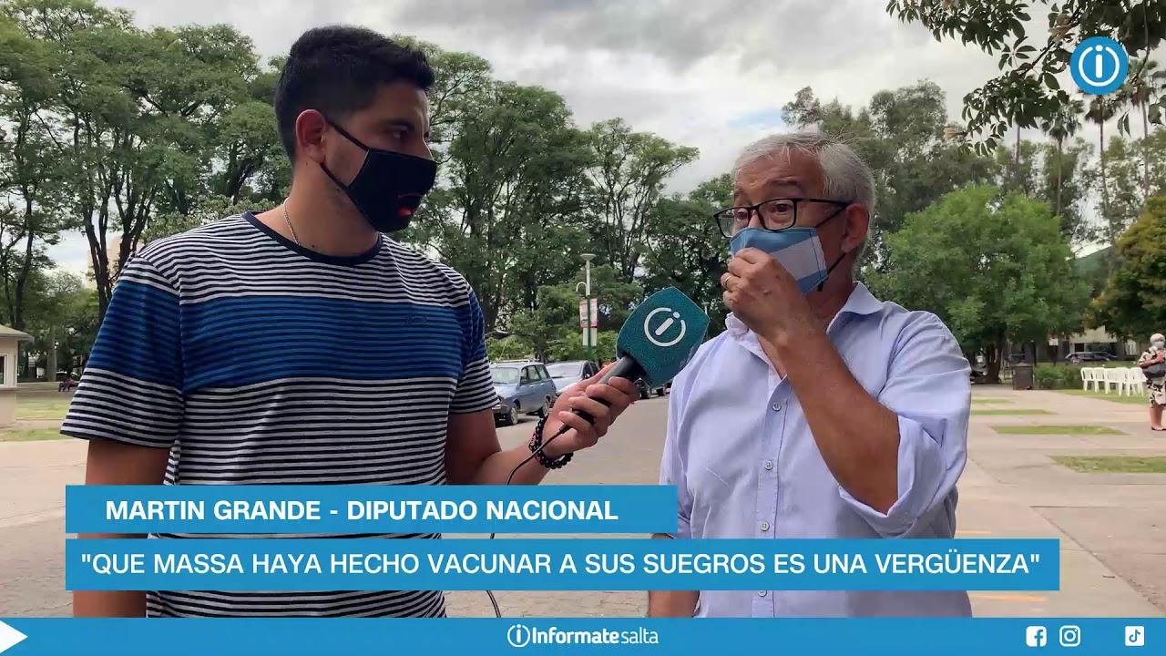 """Vacunatorio VIP: """"Que Massa haya hecho vacunar a sus suegros es una vergüenza"""""""