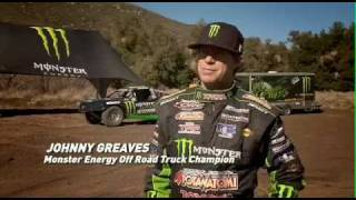 monster energys johnny greaves sets world record with first ever 300 foot truck jump