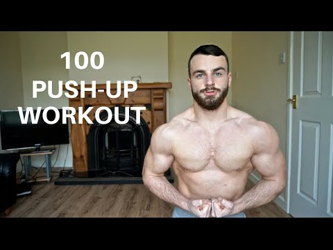 100 Push Ups A Day At Home Workout No Equipment Needed