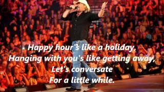 Toby Keith Drinks After Work with Lyrics