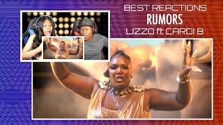 Best Reactions - Lizzo - Rumors feat. Cardi B | REACTION MASHUP !!