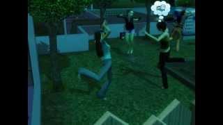The Sims 3 Сверхъестественное. Зомби танцуют в полнолуние.