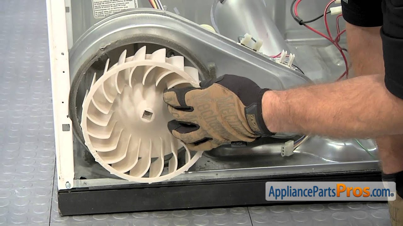 Dryer Blower Wheel Part Wp697772 How To Replace Youtube