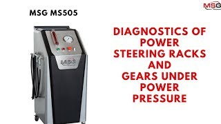 MS505 Test Bench for diagnostics of power steering racks and gears