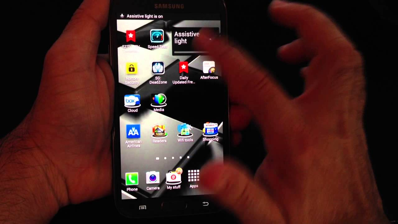 Samsung galaxy note 2 tip 19 how to enable assistive light flash samsung galaxy note 2 tip 19 how to enable assistive light flash light youtube ccuart Image collections