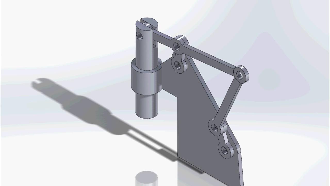 Toogle press mechanism