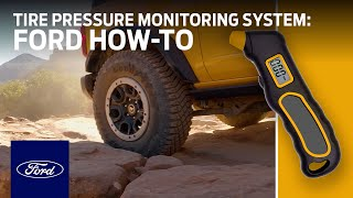homepage tile video photo for Ford Bronco:™ SUV Individual Tire Pressure Monitoring System   Ford How-To   Ford