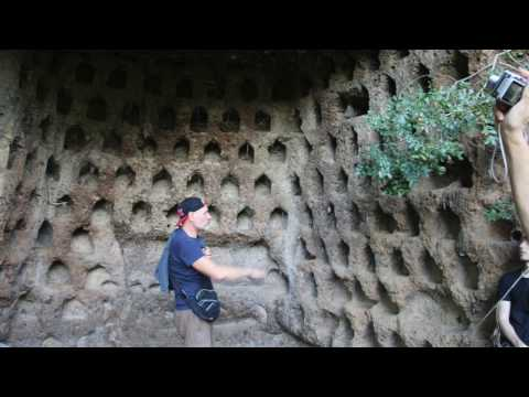 "Mysterious ""Pigeon Holes"" at the Cliff, Corviano, Italy - newearth crew"