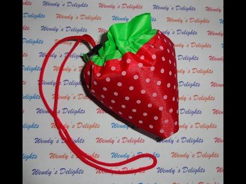 Born Pretty Store Reusable Strawberry Shopping Bag