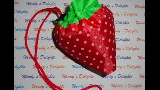 Born Pretty Store Reusable Strawberry Shopping Bag