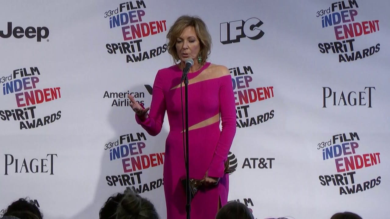 Allison Janney Nudography allison janney - best supporting actress - indie spirit awards - full  backstage interview