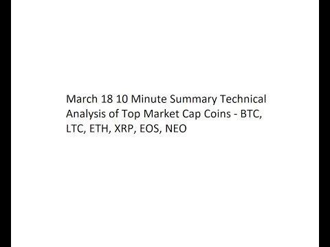 March 18 10 Minute Summary Technical Analysis of Top Market Cap Coins - BTC, LTC, ETH, XRP, EOS, NEO