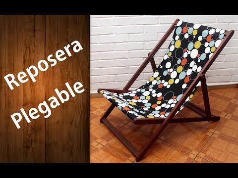 ¿Cómo hacer una reposera o perezoso?  Fácil | Wooden deck chair