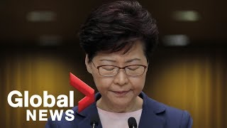 Hong Kong's leader calls for understanding amid continuing protests