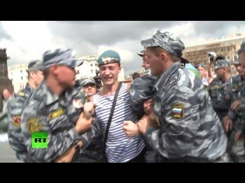 Десантники отметили свой праздник дракой с ОМОНом из-за гей-активиста