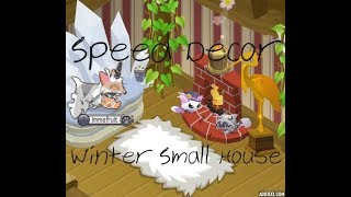 ❄ Speed Decor | Winter Small House ❄